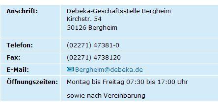 Debeka Versichern Und Bausparen Geschaftsstelle Bergheim